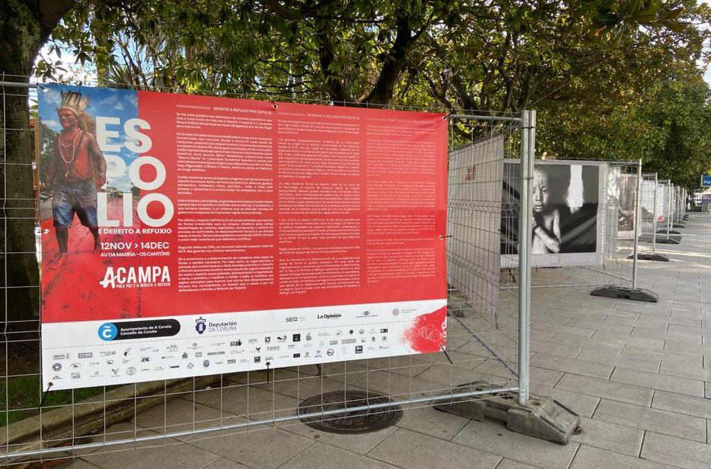 """ACAMPA POLA PAZ E O DEREITO A REFUXIO INAUGURA NA CORUÑA A EXPOSICIÓN """"ESPOLIO"""", NO MARCO DO SEU CUARTO ENCONTRO INTERNACIONAL"""