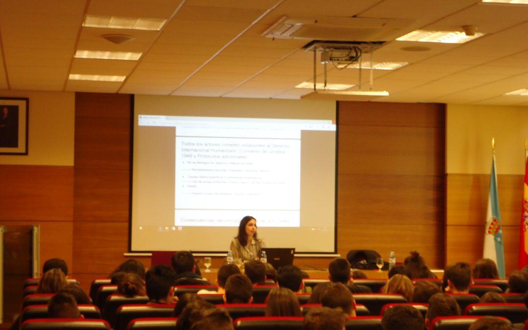 Presentación de Acampa en el IES Rafael Puga Ramón